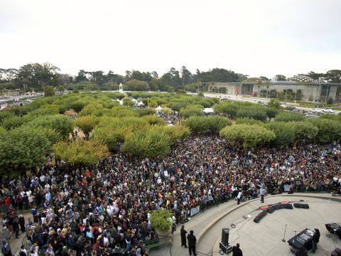加州舊金山金門公園舉辦的戶外音樂祭