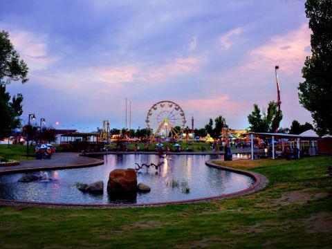 蒙大拿州博覽會的落日餘暉